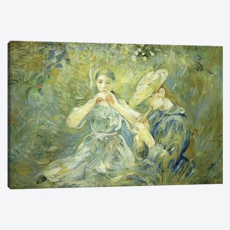 La Flageolet, 1890 Canvas Print #BMN7337} by Berthe Morisot Art Print