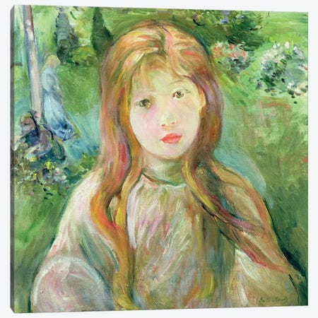 Little Girl At Mesnil, 1892 Canvas Print #BMN7338} by Berthe Morisot Canvas Artwork
