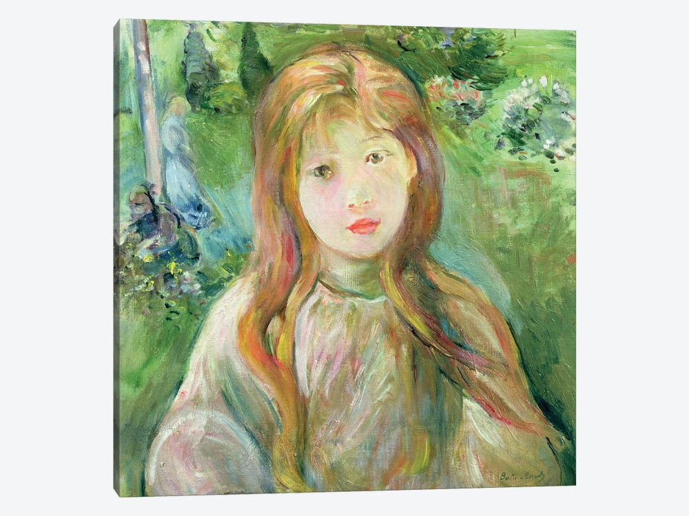 Little Girl At Mesnil, 1892 by Berthe Morisot 1-piece Canvas Art