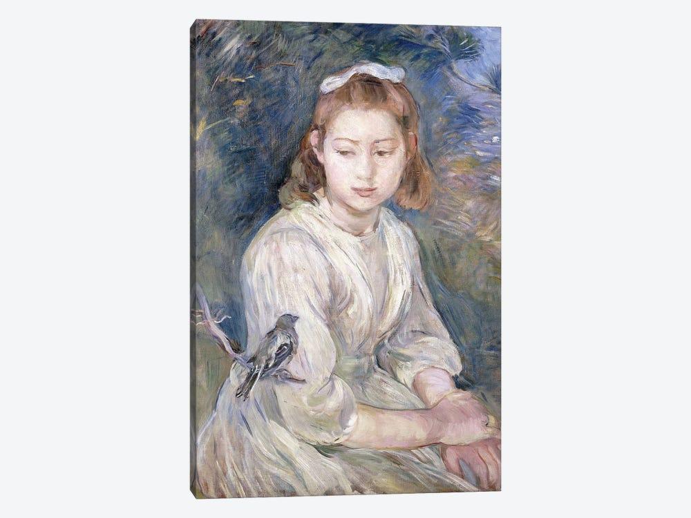 Little Girl With A Bird, 1891 by Berthe Morisot 1-piece Canvas Art Print