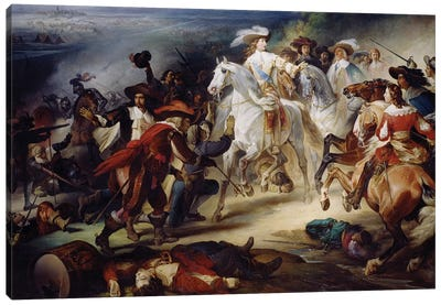 Battle of Rocroy, 19th May 1643, 1834  Canvas Art Print