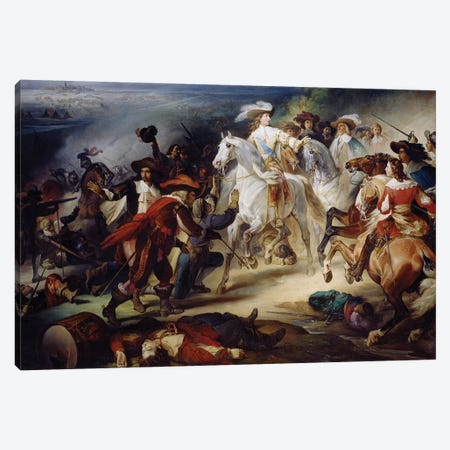 Battle of Rocroy, 19th May 1643, 1834  3-Piece Canvas #BMN733} by Francois Joseph Heim Canvas Wall Art