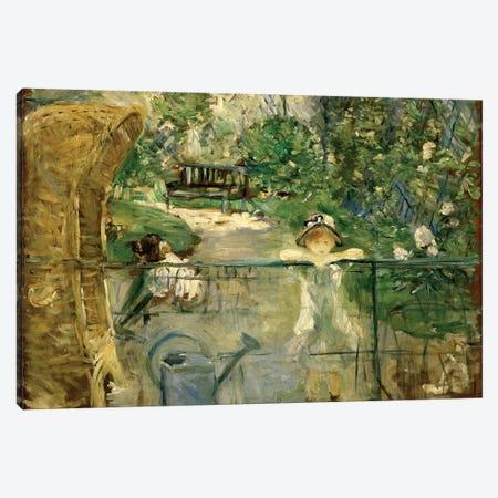 Little Girls In The Garden (The Basket Chair), 1885 Canvas Print #BMN7340} by Berthe Morisot Art Print