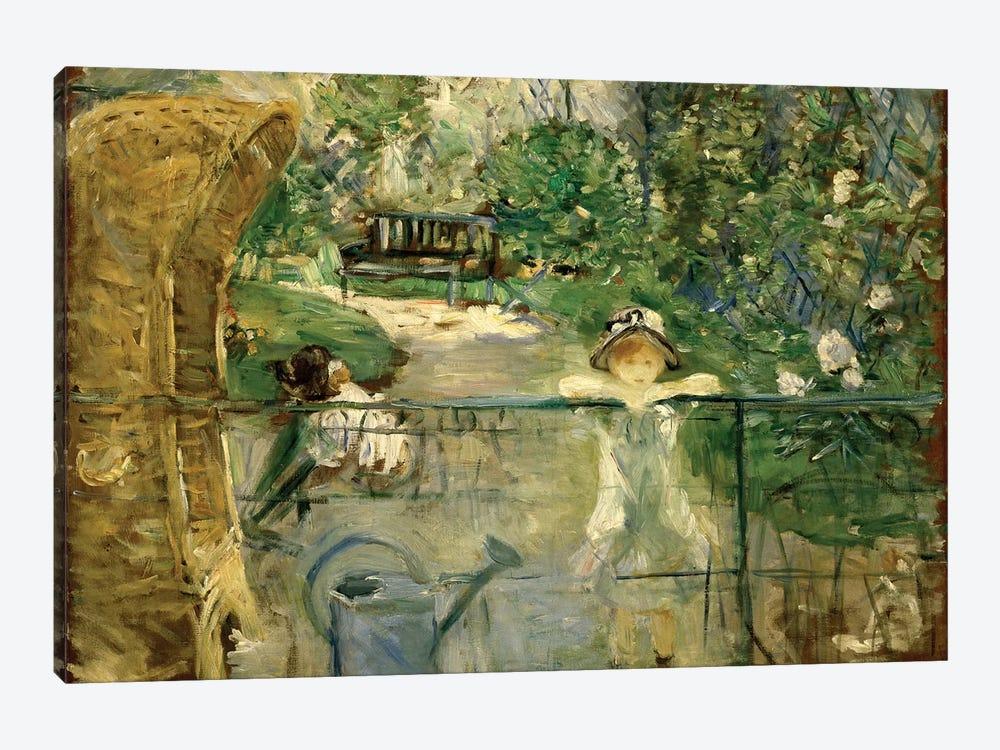 Little Girls In The Garden (The Basket Chair), 1885 by Berthe Morisot 1-piece Canvas Art Print