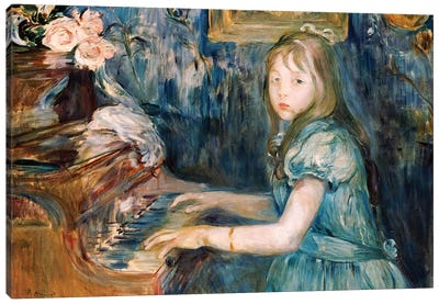 Lucie Leon At The Piano, c.1892 Canvas Art Print