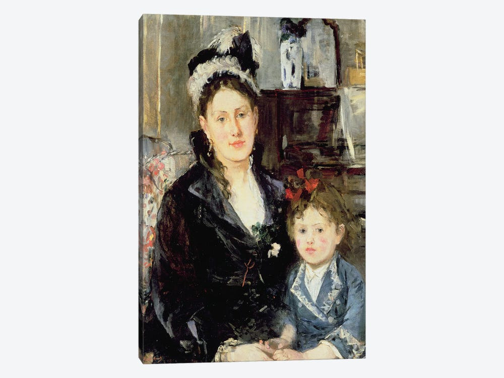Madame Boursier And Her Daughter, 1873 by Berthe Morisot 1-piece Canvas Art Print