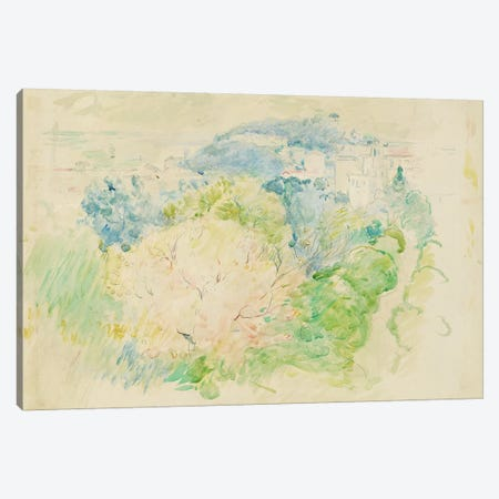 Mountain With A Chateau, 1888 Canvas Print #BMN7345} by Berthe Morisot Canvas Artwork
