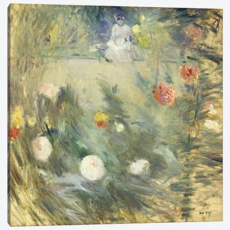 Nanny At The End Of The Garden (Nourrice au Fond d'un Jardin), 1880 Canvas Print #BMN7346} by Berthe Morisot Canvas Artwork
