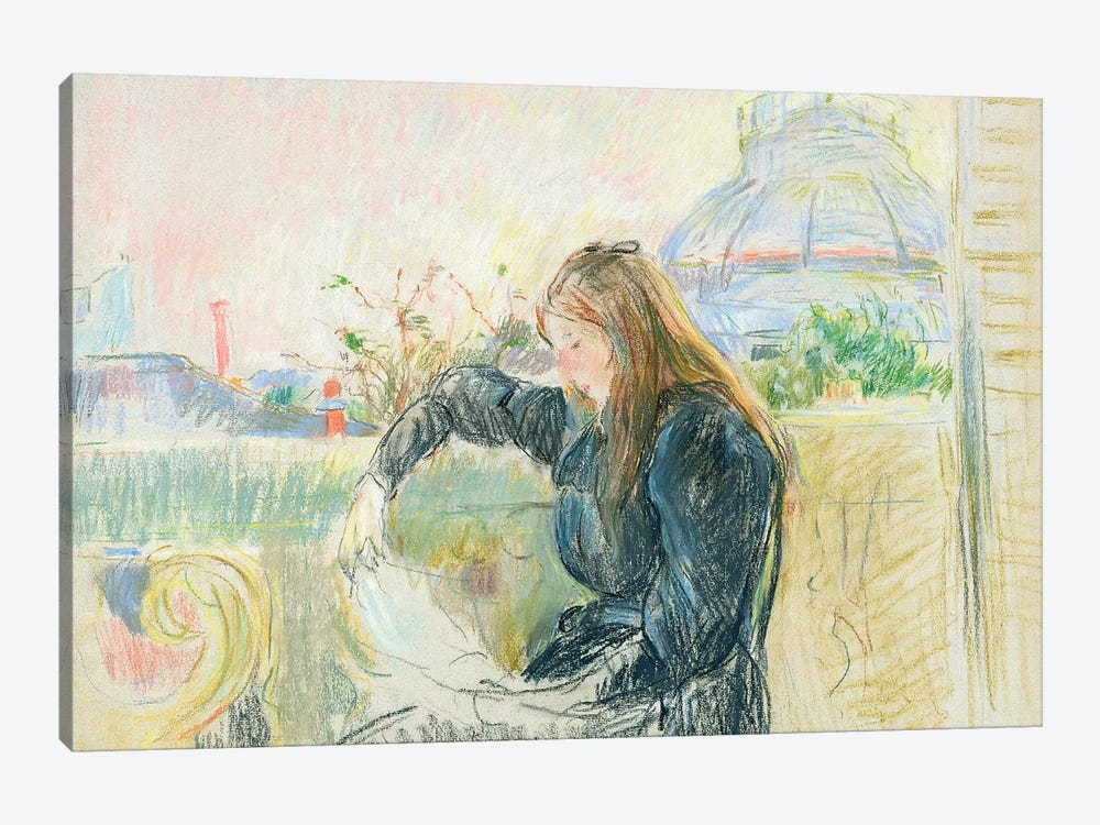 On The Balcony, 1893 by Berthe Morisot 1-piece Art Print