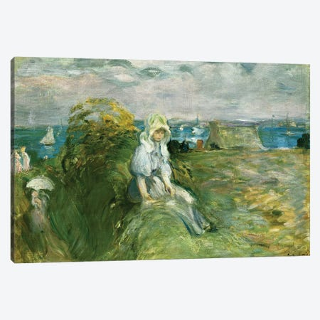 On The Cliff At Portrieux (Sur la Falaise au Portrieux), 1894 Canvas Print #BMN7349} by Berthe Morisot Art Print