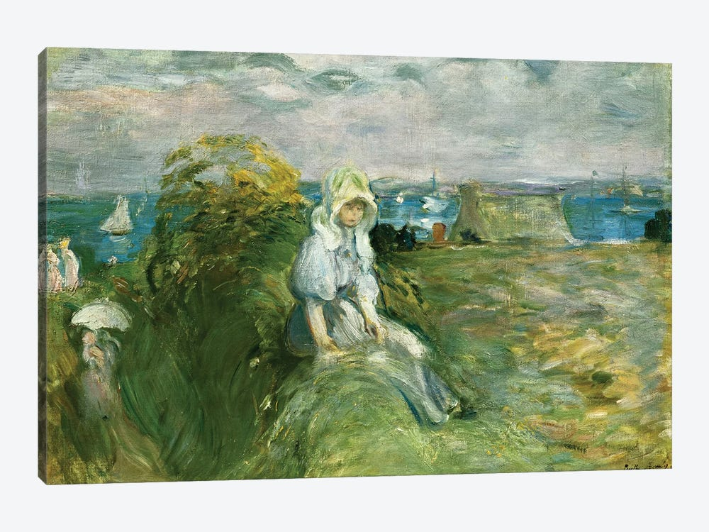 On The Cliff At Portrieux (Sur la Falaise au Portrieux), 1894 by Berthe Morisot 1-piece Canvas Wall Art