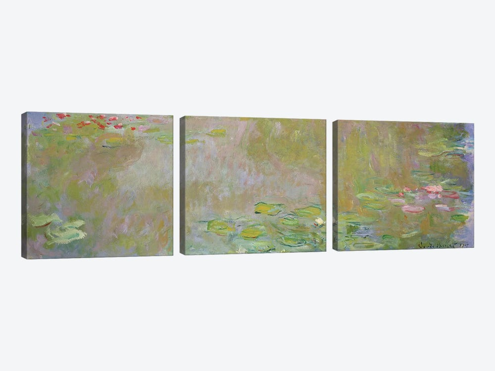 Waterlilies at Giverny, 1917  by Claude Monet 3-piece Art Print