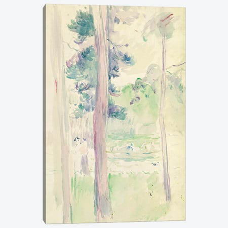 Pines By The Lake, 1893 3-Piece Canvas #BMN7351} by Berthe Morisot Canvas Artwork