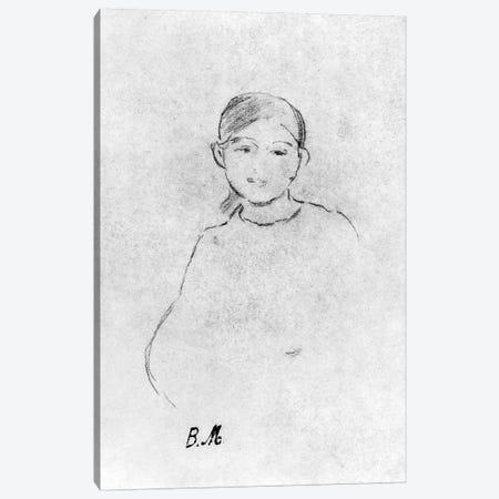 Portrait Of A Young Girl, 1887 Canvas Print #BMN7352} by Berthe Morisot Canvas Wall Art