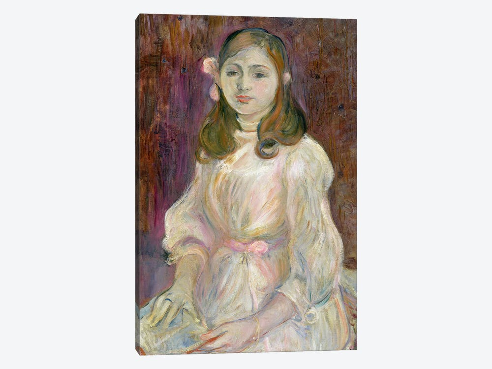 Portrait Of Julie Manet Holding A Book, 1889 by Berthe Morisot 1-piece Canvas Art