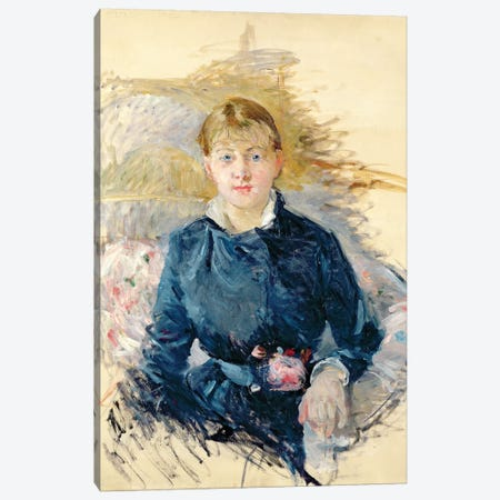 Portrait Of Louise Riesener, 1881 Canvas Print #BMN7355} by Berthe Morisot Art Print