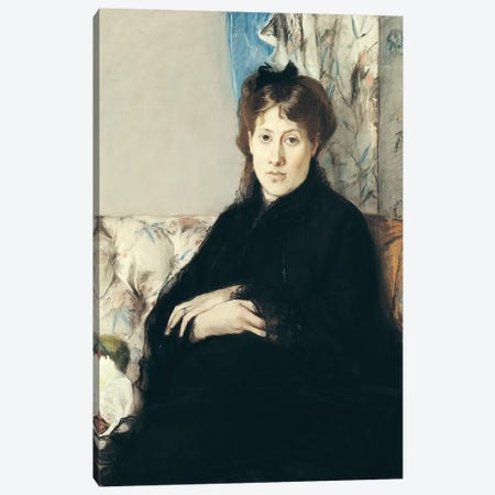 Portrait Of Madame Edma Pontillon, 1871 Canvas Print #BMN7356} by Berthe Morisot Canvas Art Print