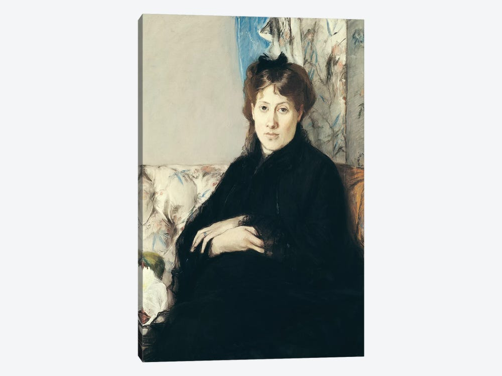 Portrait Of Madame Edma Pontillon, 1871 by Berthe Morisot 1-piece Canvas Artwork