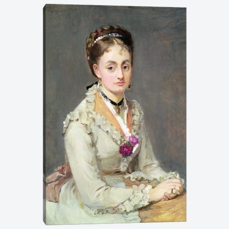 Portrait Of The Artist's Sister, Madame Edma Pontillon, c.1872-75 Canvas Print #BMN7358} by Berthe Morisot Canvas Wall Art