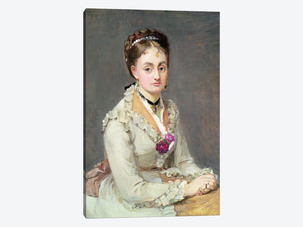 Portrait Of The Artist's Sister, Madame Edma Pontillon, c.1872-75 by Berthe Morisot 1-piece Canvas Wall Art