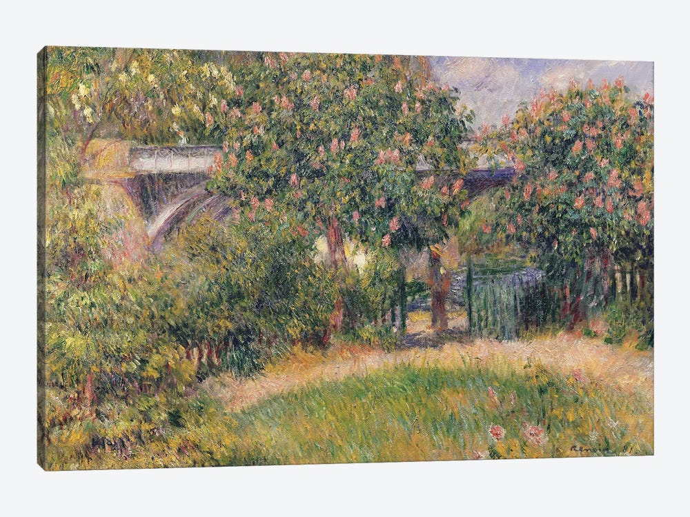 Railway Bridge at Chatou, 1881  by Pierre-Auguste Renoir 1-piece Canvas Artwork