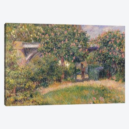 Railway Bridge at Chatou, 1881  Canvas Print #BMN735} by Pierre-Auguste Renoir Canvas Art Print