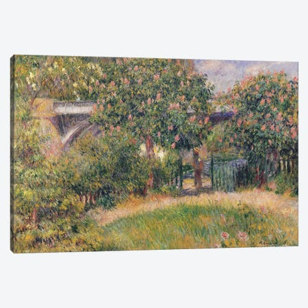 Railway Bridge at Chatou, 1881  Canvas Print #BMN735} by Pierre-Auguste Renoir Canvas Art Print