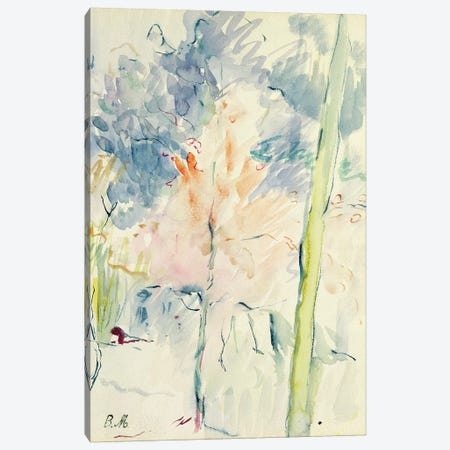 Red Tree In A Wood, 1893 3-Piece Canvas #BMN7360} by Berthe Morisot Canvas Print