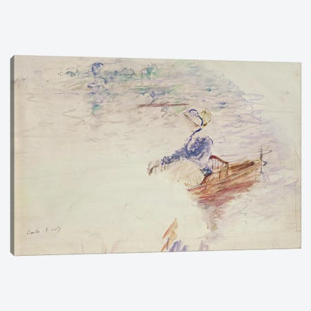 Sketch Of A Young Woman In A Boat, 1886 Canvas Print #BMN7364} by Berthe Morisot Canvas Wall Art
