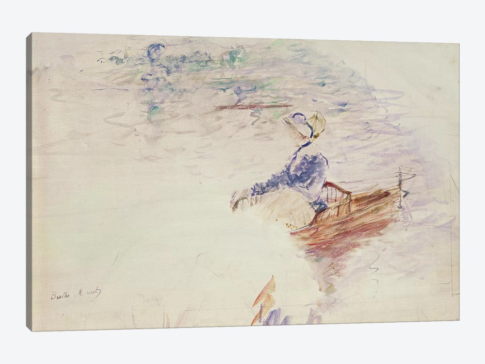 Sketch Of A Young Woman In A Boat, 1886 by Berthe Morisot 1-piece Canvas Art Print