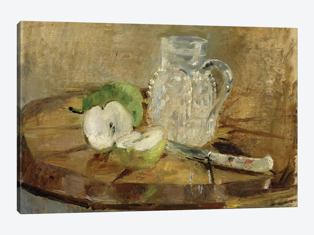 Still Life With A Cut Apple And A Pitcher, 1876 by Berthe Morisot 1-piece Canvas Art Print