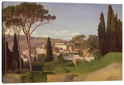 View of a Roman Villa, 1844  Canvas Art Print