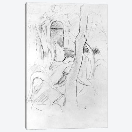 The Aloes At Villa Ratti (Graphite On Paper), 1889 Canvas Print #BMN7370} by Berthe Morisot Canvas Artwork
