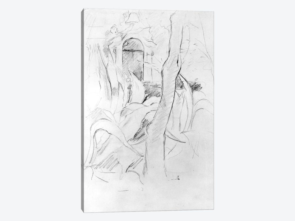 The Aloes At Villa Ratti (Graphite On Paper), 1889 by Berthe Morisot 1-piece Canvas Artwork