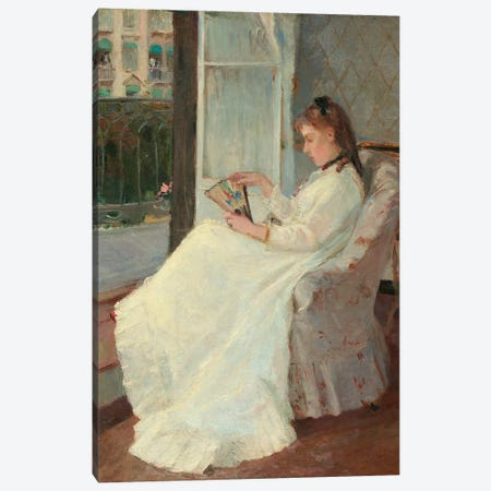 The Artist's Sister At A Window, 1869 Canvas Print #BMN7371} by Berthe Morisot Canvas Art