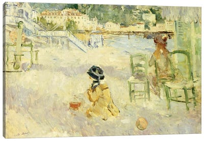 The Beach At Nice, 1882 Canvas Art Print