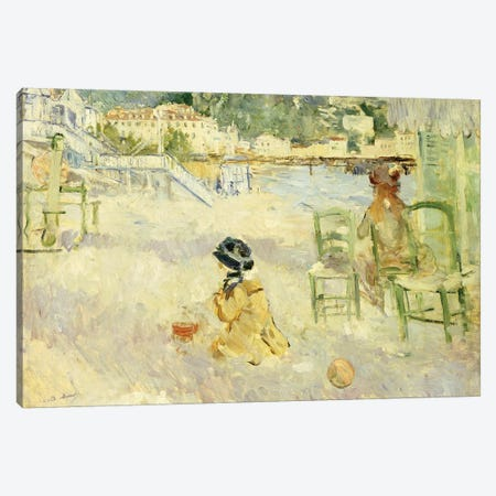 The Beach At Nice, 1882 Canvas Print #BMN7373} by Berthe Morisot Canvas Artwork