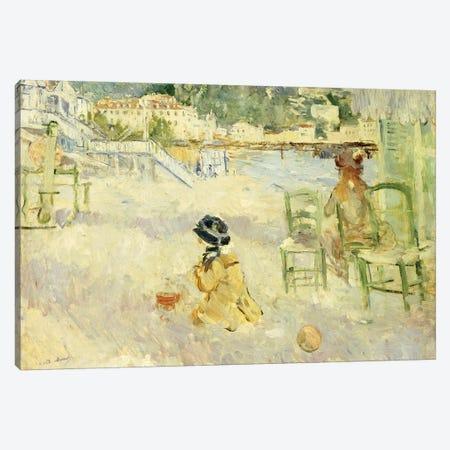 The Beach At Nice, 1882 Canvas Print #BMN7373} by Berthe Morisot Canvas Artwork