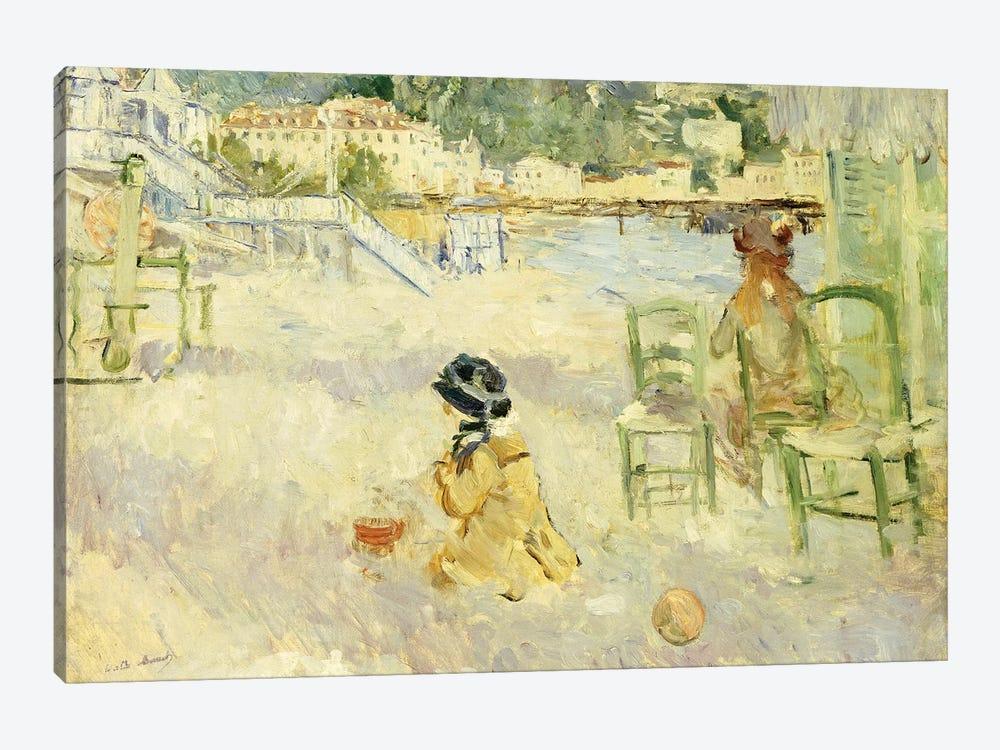 The Beach At Nice, 1882 by Berthe Morisot 1-piece Canvas Art Print