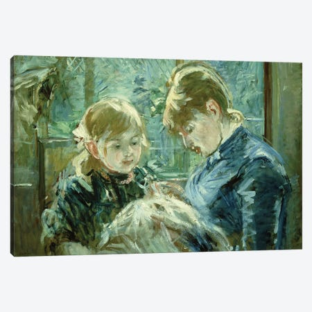 The Dressmaking Lesson (Le Lecon de Couture), 1884 Canvas Print #BMN7375} by Berthe Morisot Art Print