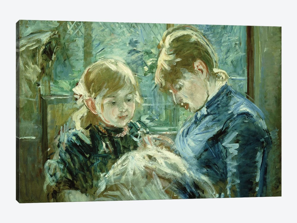 The Dressmaking Lesson (Le Lecon de Couture), 1884 by Berthe Morisot 1-piece Art Print