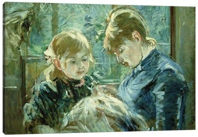 The Dressmaking Lesson (Le Lecon de Couture), 1884 Canvas Art Print
