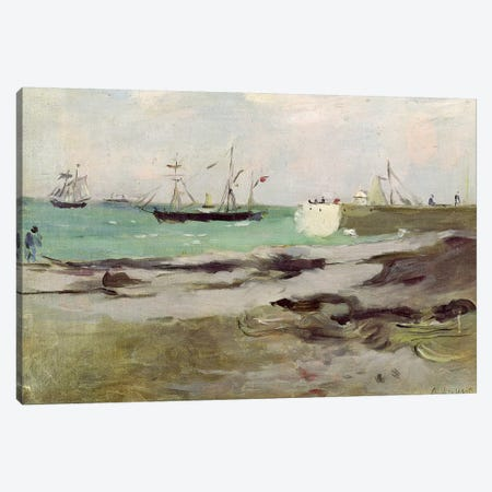 The Entrance To The Port Of Boulogne, 1880 Canvas Print #BMN7376} by Berthe Morisot Canvas Art Print