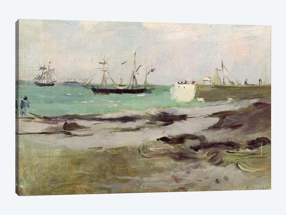 The Entrance To The Port Of Boulogne, 1880 by Berthe Morisot 1-piece Canvas Artwork