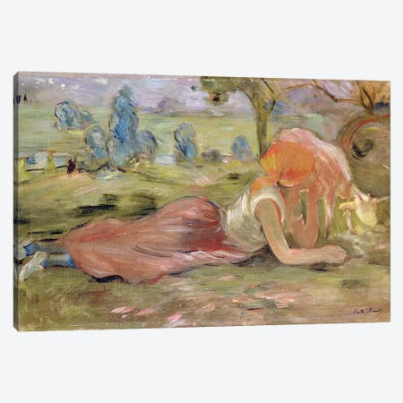 The Goatherd, 1891 Canvas Print #BMN7378} by Berthe Morisot Canvas Art