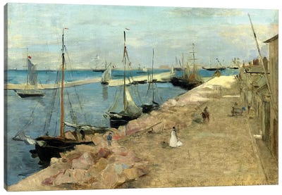 The Harbour At Cherbourg, 1871 Canvas Art Print