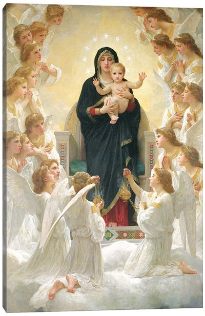 The Virgin with Angels, 1900  Canvas Art Print
