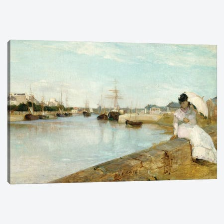 The Harbour At Lorient, 1869 Canvas Print #BMN7380} by Berthe Morisot Canvas Art Print