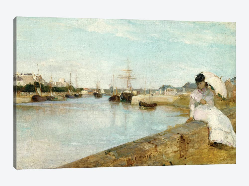 The Harbour At Lorient, 1869 1-piece Canvas Art Print