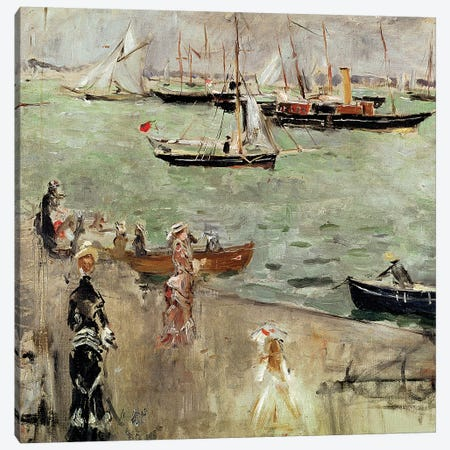 The Isle Of Wight, 1875 Canvas Print #BMN7382} by Berthe Morisot Art Print